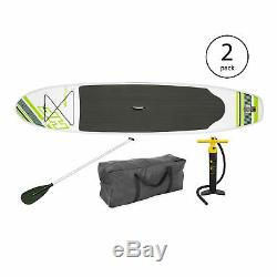 Bestway Inflatable Hydro Force Wave Edge 122 x 27 Paddle Board, Green (2 Pack)