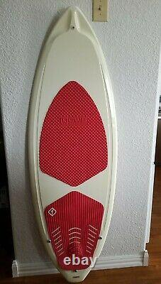 CWB Board Co. Wake Surf Board 64 long 21 wide skater fin 1.7 Used Red/Ivory
