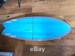 Carbon Compact Travel Surfboard Quad Fish EPS/Epoxy Bisect 2 Piece