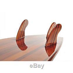 Cedar Wooden Shortboard Surfboard 6'3 Hollow Epoxy Fiberglass Surfing Tri Fin