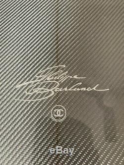 Chanel x Philippe Barland Limited Edition Silver Carbon Surfboard Chrome Carbon
