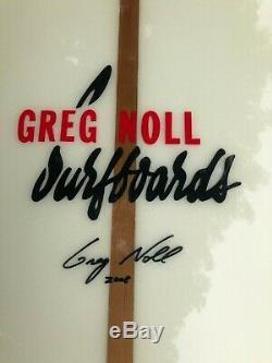 Classic Collectors Longboard Greg Noll Concave Gun