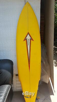 Classic Herbie Fletcher Surfboard, a single fin classic