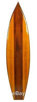 Classic Vintage Look Real Wood Waikiki 77 Surfboard