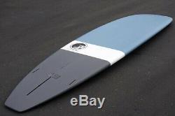 Degree33 Ultimate Longboard Surfboard in matte powder blue and steel grey