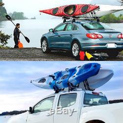 Double Folding Kayak Roof Rack J Bar Car Truck Top Mount Carrier Canoe Boat Surf
