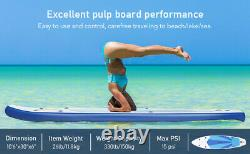Extra Wide Inflatable Stand Up Paddle Board SUP Surfing 10.5ft Paddleboard Kayak