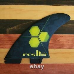 FCS II AM PC Tri Set Surfboard Fins Al Merrick Small, Medium, or Large
