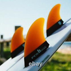 FCS II Rob Machado Tri-Keel Fins Large + Free Leash String & Wax Comb