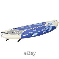 Foamie Beach Surfboard Surfing Ocean Body Boarding Foam Longboard White Best New