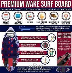 Freedom Wakesurf board. Patriot Skim Surf Board 4' 4 (52.5)