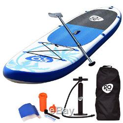 Goplus 11' Inflatable Stand Up Paddle Board SUP Fin Adjustable Paddle Backpack