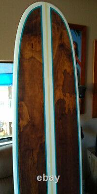 Gorgeous 7FT Wood Surfboard White Wall Art Hawaiian Decor Surfing California