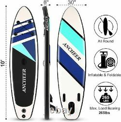 HOT Inflatable Paddle Board Deck Surfboard Skill Levels Adult Paddleboards
