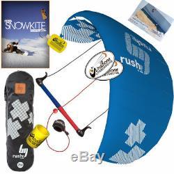 HQ4 Rush Pro V 300 3M Trainer Kite Kiteboarding Surf Snow + How To Snowkite DVD