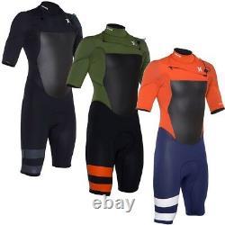 Hurley Men's Fusion 202 Short Sleeve Sprintsuit 2mm Surf Wet Suit