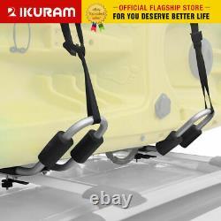 IKURAM 2 Kayak/surf/ski rack Roof Carrier canoe shelf Folding Universal Aluminum