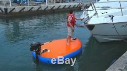 Inflatable Motorized Fishing Platform Paddle Board Surf Board Dingy Raft Boat