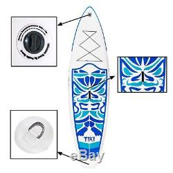 Inflatable Paddle Board 106336with AdjustablePaddle, Backpack, leash, pump