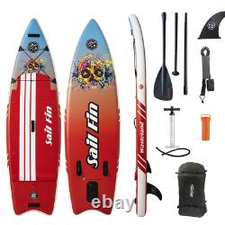 Inflatable Paddle Board 9 feet Sail Fin Wasteland 1-Year Limited Warranty