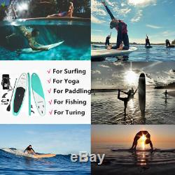 Inflatable SUP Stand Up Paddle Board Surfing Board Surf Yoga 10Ft (6thick) 7in1