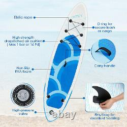 Inflatable Stand Up Paddle Board 10' SUP Standing Paddleboard BlueWave Surfboard