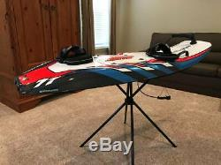 JetSurf Factory GP-100 Carbon Fiber Motorized Surfboard Red Spider Graphics