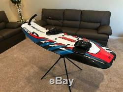 JetSurf Factory GP-100 Carbon Fiber Motorized Surfboard Red Spider Graphics
