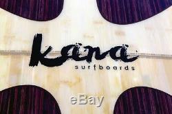 Kana Surfboards 9'2 Cruza Epoxy Longboard Surfboard FCS Wood/Bamboo