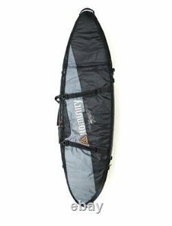 Komunity Double Traveler surfboard Board Bag 6'6 Grey/Black holds 2 boards