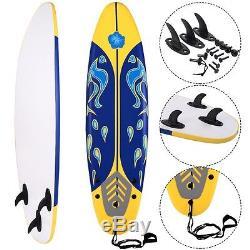 LARGE 6 Surfboard Beach Surfing Ocean Body Boarding Foam Water Surf Board Sport