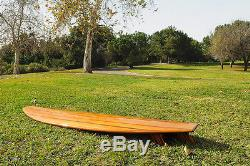 Longboard Ultra Stylish Sleek, Glossy Exterior Real Wood Surfboard