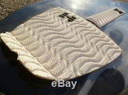 NEW Wave Zone Edge 41 Fiberglass Skimboard with Traction Black Gray White