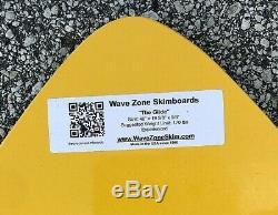 NEW Wave Zone Glide 48 Fiberglass Skimboard Yellow & Green