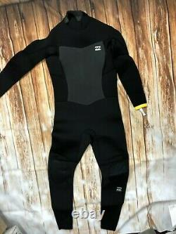 NWT 220$ Billabong Absolute 5/4mm Black surf school series Winter Wetsuit 8