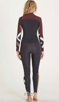 NWT 240$ Billabong 3/2 Surf Capsule Salty Dayz Chest Zip Fullsuit Wetsuit A5 2