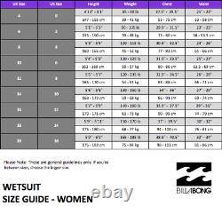 NWT Billabong SURF 3/2mm Women's Synergy Fullsuit Wetsuit JWFUJSB3 4