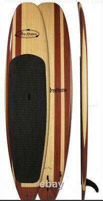 New Three Brothers Irish Twin Wood Paddle Board, New Paddle & Storage Bag