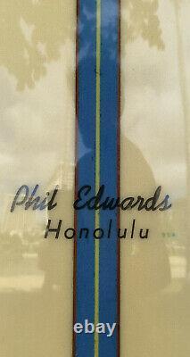 Phil Edwards Honolulu 60's Surfboard Vintage