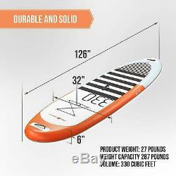 Pro6 P6-330 ISUP Inflatable Stand-Up Paddle Board 126x32x6, 10'6