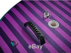 Pro6 P6-Yoga ISUP Inflatable Stand-Up Paddle Board 126x35x6, 10' 6 Purple
