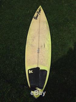 Quiet Flight Surfboard 6'1 Neon green Shortboard. Good condition. Leash incl