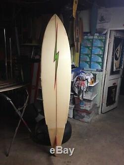 RARE Gerry Lopez Lightning Bolt Vintage 70s Surf Board