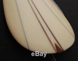 RARE Hap Jacobs Surf Boards Noserider Surfboard Longboard Fiberglass & Wood 10