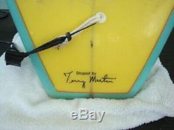 RARE Vintage Hobie Terry Martin Longboard Surfboard 8'-6