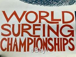 RARE orig. 1966 WORLD SURFING CHAMPIONSHIPS POSTER Michael Dormer