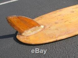 RARE vintage Greg Noll balsa wood surfboard 1950s longboard surfer surfing surf