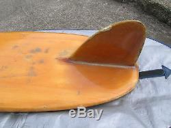 RARE vintage hobie balsa wood surfboard 1950s longboard surfer surfing surf