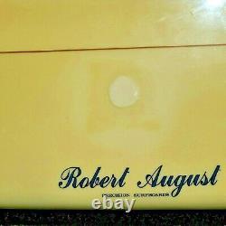 ROBERT AUGUST SURFBOARD 9' Round Tail Single Fin Vintage 1980's