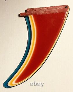 Rainbow Fin Vintage Mid 70's Multi Color's Surfboard Fin